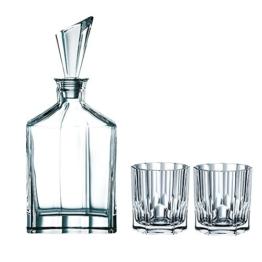 Spiegelau & Nachtmann, 3-teiliges Whisky-Set, Dekanter+ 2x Whisky-Becher, Aspen, 90024 - 1