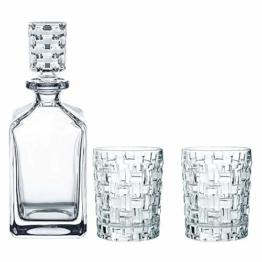 Spiegelau & Nachtmann, 3-teiliges Whisky-Set, Dekanter+ 2x Whisky-Becher, Bossa Nova, Kristallglas, 101095 - 1
