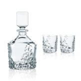 Spiegelau & Nachtmann, 3-teiliges Whisky-Set, Dekanter+ 2x Whisky-Becher, Sculpture, 91900 - 1