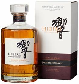Suntory Whisky Hibiki Japanese Harmony, mit Geschenkverpackung, sanfter langanhaltender Nachgeschmack, 43% Vol, 1 x 0,7l - 1
