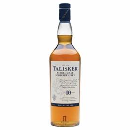 Talisker 10 Jahre Single Malt Scotch Whisky – Weicher, torfiger und rauchiger Whisky aus dem Norden Schottlands – In maritimer Geschenkbox – Standardversion – 1 x 0,7l - 1