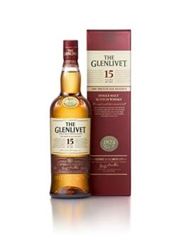 The Glenlivet 15 Jahre Single Malt Scotch Whisky – French Oak Reserve Scotch Single Malt Whisky – 1 x 0,7 L - 1