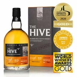 The Hive Batch Strength Malt Whisky 55%, 70cl - Wemyss Malts - Blended Malt Scotch Whisky - 1