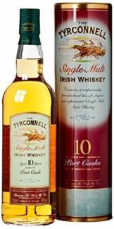The Tyrconnell 10 Jahre Port Finish Single Malt Irish Whiskey, mit Geschenkverpackung, 46%Vol, 1 x 0,7l - 1