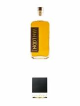 Van Loon 3 Jahre The First Hanseatic Single Malt Whisky 42% 0,5 Liter + Schiefer Glasuntersetzer eckig ca. 9,5 cm Durchmesser - 1