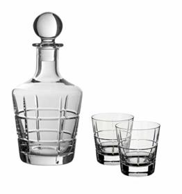 Villeroy & Boch 11-3614-9201 Ardmore Club 3tlg, Whisky-Set mit Karaffe und Gläsern, Kristallglas, klar, 0.75 ml und 320 ml - 1